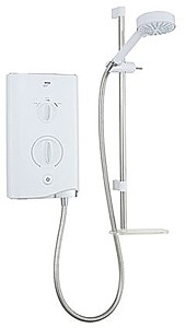 Mira Electric Showers Mira Sport 9.8kW in white & chrome.