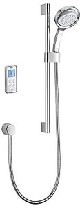 Mira Vision Rear Fed Digital Shower (Pumped, White & Chrome).