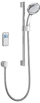Mira Vision Rear Fed Digital Shower (Pumped, White & Chrome).