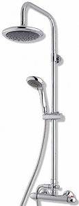 MX Showers Options Stream Bar Shower Valve With Rigid Riser Kit & Head.