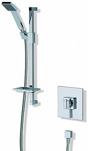 MX Showers Atmos Edge Square Shower Valve With Slide Rail Kit.