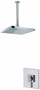 MX Showers Atmos Zinc Shower Valve With Square Shower Head & Arm.