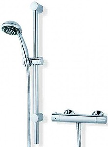 MX Showers Atmos Sigma Bar Shower Valve With Slide Rail Kit.