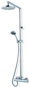 MX Showers Atmos Azure Bar Shower Valve With Rigid Riser Kit.
