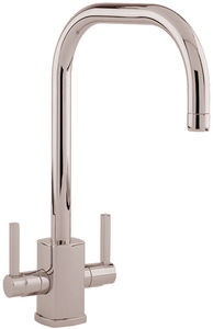 Perrin & Rowe Rubiq Kitchen Mixer Tap With U Spout (Polished Nickel).