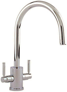 Perrin & Rowe Orbiq Kitchen Mixer Tap With C Spout (Polished Nickel).