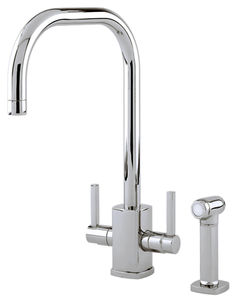 Perrin & Rowe Rubiq Kitchen Tap With Rinser & U Spout (Pewter).