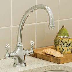 Perrin & Rowe Etruscan Kitchen Mixer Tap (Chrome).