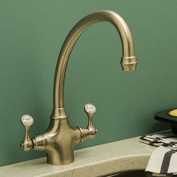 Perrin & Rowe Etruscan Kitchen Mixer Tap (Gold).