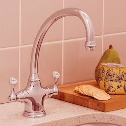 Perrin & Rowe Etruscan Kitchen Mixer Tap (Polished Nickel).