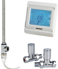 Phoenix Radiators Digital Thermostat Pack With Straight Valves (150w).