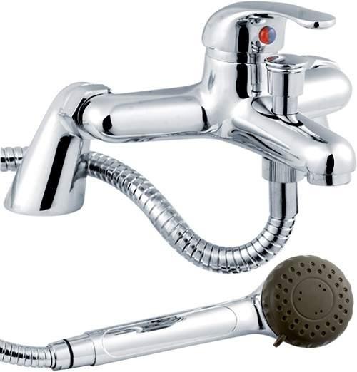 Crown D Type Bath Shower Mixer Tap With Kit Chrome