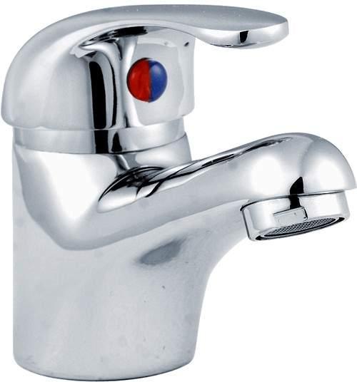 Crown D-Type Basin Mixer Tap (Chrome).