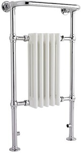 Crown Radiators Harrow Traditional Heated Towel Rail. 540x965mm. 1875 BTU.