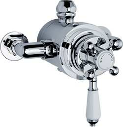 Crown Showers Traditional Dual Exposed Thermostatic Shower Valve.