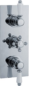 Crown Showers Traditional Triple Concealed Thermostatic Shower Valve.
