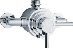 Crown Showers Dual Exposed Thermostatic Shower Valve (Chrome).