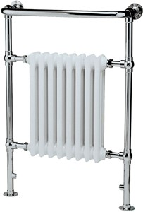 Crown Radiators Harrow Traditional Heated Towel Rail. 673x965mm. 3520 BTU.