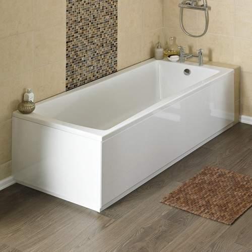 Crown Baths Linton Single Ended Acrylic Bath & Panels. 1800x800mm