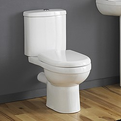 Crown Ceramics Ivo Toilet With Push Flush Cistern & Soft Close Seat.