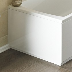 Crown Bath Panels 900mm 2 piece End Bath Panel (White, MDF).