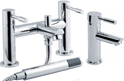 Crown Series 2 Basin & Bath Shower Mixer Tap Set (Chrome).