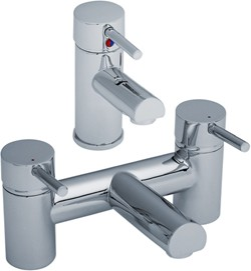Crown Series FII Basin & Bath Filler Tap Set (Chrome).