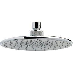 Crown Showers Round Shower Head With Swivel Knuckle (205mm, Chrome).