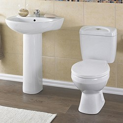 Crown Ceramics Melbourne 4 Piece Bathroom Suite.