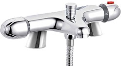 Crown Taps Thermostatic Bath Shower Mixer Tap (Chrome).