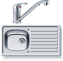 Pyramis Kitchen Sink, Waste & Tap. 940x490mm (Reversible).