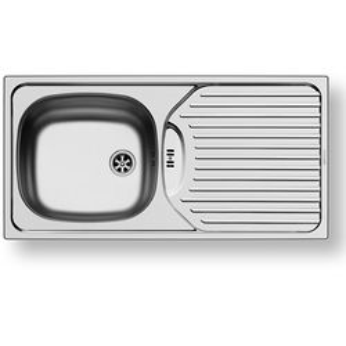 Pyramis Kitchen Sink & Waste. 860x435mm (Reversible, 1 Tap Hole).