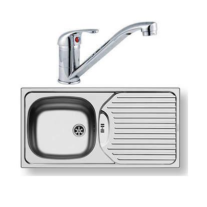 Pyramis Kitchen Sink, Waste & Tap. 860x435mm (Reversible).