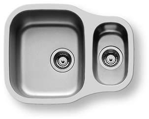 Pyramis Dione 1.5 Bowl Undermount Kitchen Sink & Waste. 590x460mm.