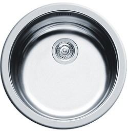 Pyramis Round Kitchen Sink & Waste. 450mm Diameter.