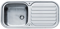 Pyramis Galaxy Kitchen Sink & Waste. 960x480mm (200mm Deep Bowl).