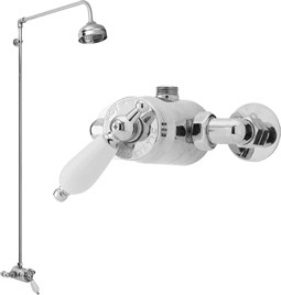 Waterford Sequential thermostatic exposed shower valve & kit (Chrome)