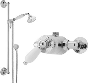 Waterford Sequential thermostatic shower valve and slide rail kit (Chrome)