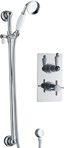 Galway Twin thermostatic shower valve with slide rail kit (Chrome)