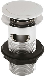 Helix Wastes Push button basin waste with stay hole cover (SLOTTED)