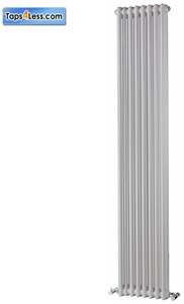 Reina Radiators Colona Vertical 2 Column Radiator (White). 1800x380mm.
