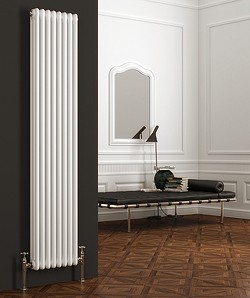 Reina Radiators Colona Vertical 3 Column Radiator (White). 1800x290mm.