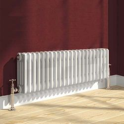Reina Radiators Colona 4 Column Radiator (White). 300x1190mm.