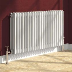 Reina Radiators Colona 4 Column Radiator (White). 600x1190mm.