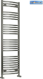 Reina Radiators Diva Curved Towel Radiator (Chrome). 1600x400mm.