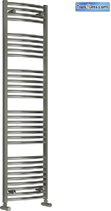 Reina Radiators Diva Curved Towel Radiator (Chrome). 1800x600mm.
