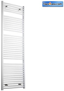 Reina Radiators Diva Curved Towel Radiator (White). 1800x600mm.