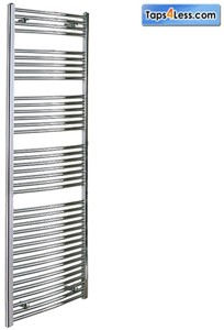 Reina Radiators Diva Flat Towel Radiator (Chrome). 1600x500mm.