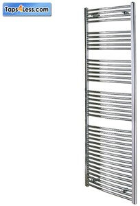 Reina Radiators Diva Flat Towel Radiator (Chrome). 1800x600mm.