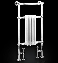 Reina Radiators Alicia Traditional Towel Radiator (Chrome). 495x960mm.
